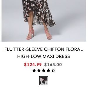 WHBM Floral Flutter Dress Size 4